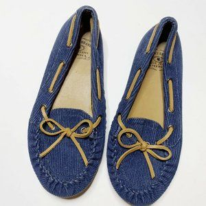 Lucky Brand Andie Blue Corduroy Driving Moccasin